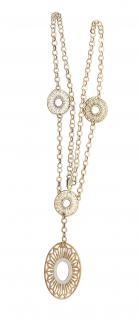 Goldkette 585 Collier mit Anhänger 14 Karat massiv mit Karabiner Halskette Damen