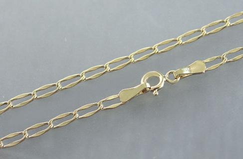 Grobgliedrige Goldkette 585 - Kette Gold 50 cm Halskette Collier echt Gold 14 kt