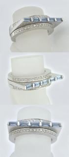 Massiver schwerer Weißgoldring 750 Ring Weißgold Brillantring 0, 60 ct. Goldring