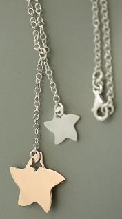 Silberkette 925 mit Sternen Kette Silber Rotgold Collier Y Kette Stern