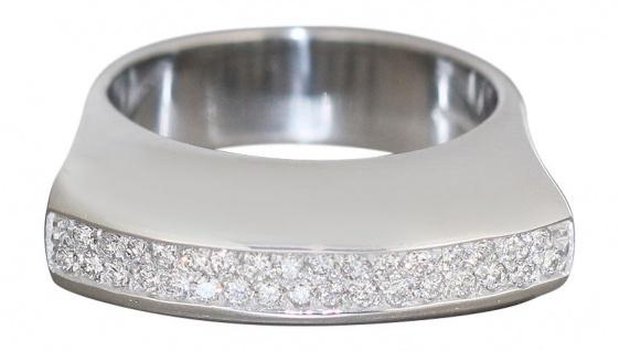 Luxus Weißgoldring 750 mit Brillanten 0, 65 ct Brillantring Ring Weißgold
