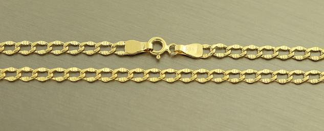 50 cm Panzerkette 585 Goldkette Halskette Kette Gold Echtgoldkette 14 kt