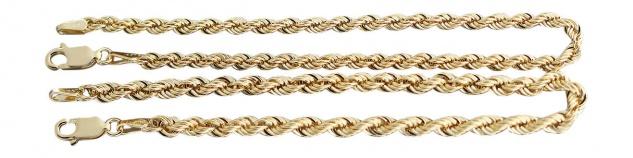 19 cm Wallisarmband Gold 585 Goldarmband Kordelkette Armband Armkette Karabiner