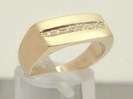 Massiver Brillantring - Ring Gold 585 mit Brillanten - Goldring 14 kt Damenring