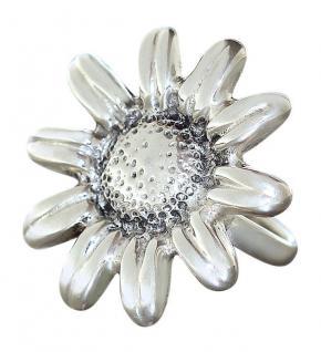 Silberring 925 große Blume Ring Silber massiv Margerite Damenring Sterlingsilber