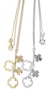 Silberkette 925 rhodiniert oder vergoldet mit Kreuz Anhänger Kette Silber Gold