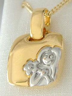 Sternzeichen Jungfrau Anhänger u Kette Gold pl Panzerkette Goldkette vergoldet