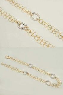 Hübsches Armband in Gelbgold und Weißgold 585 mit Karabiner Goldarmband 14 kt