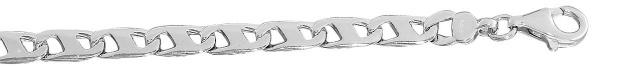 21 cm massives Silberarmband 925 rhodiniert Silberkette schwere Armkette Armband