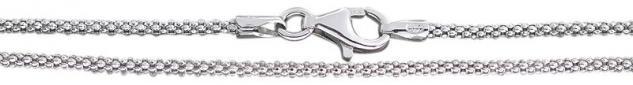 Silberkette 925 Himbeerkette rhodiniert Halskette 40 45 50 cm Karabiner