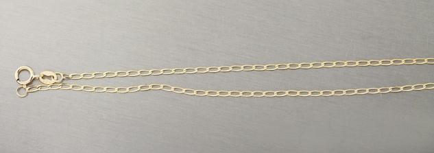 45 cm hochglänzende feine Goldkette 585 Halskette geschliffen Kette Gold massiv