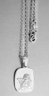 Schutzengel Kette Sterlingsilber 925 massiv mit Anhänger Silberkette Erwachsene - Vorschau 3