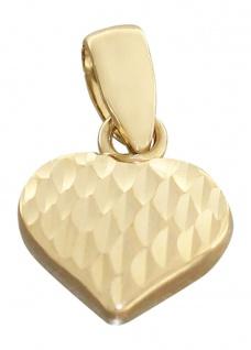 Kleines Herz Gold 585 Goldanhänger Goldherz 14 Kt. Anhänger funkelnd geschliffen