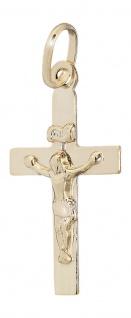 Kreuz Gold 333 Anhänger mit Korpus kleines Goldkreuz Goldanhänger 8 Karat