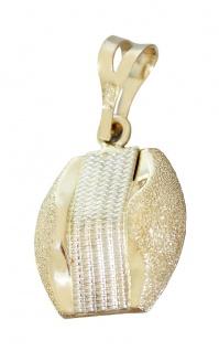 Moderner Anhänger Gold 585 diamantiert Kettenanhänger Goldanhänger 14 Karat