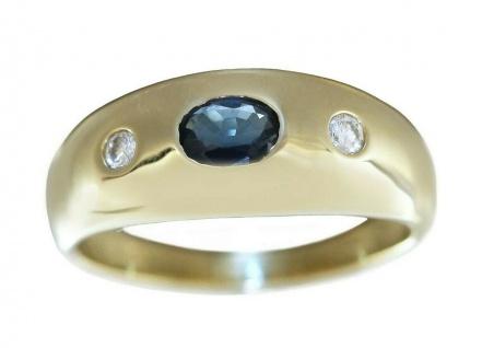 Ring Gold 585 Allianzring mit Saphir und Brillanten 0, 10 ct. Damen Brillantring