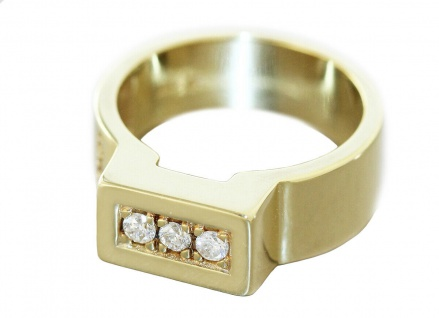Ring Gold 585 massiv Brillanten 0, 18 ct. Brillantring 14kt Goldring