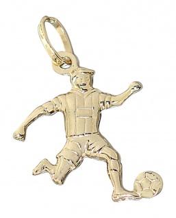 Anhänger echt Gold 585 Fußballspieler Goldanhänger Fußball Bundesliga Fußballer