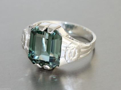 Ring Silber 800 Damenring in Silber (800) mit 1 Schmuckstein (12x10 mm)