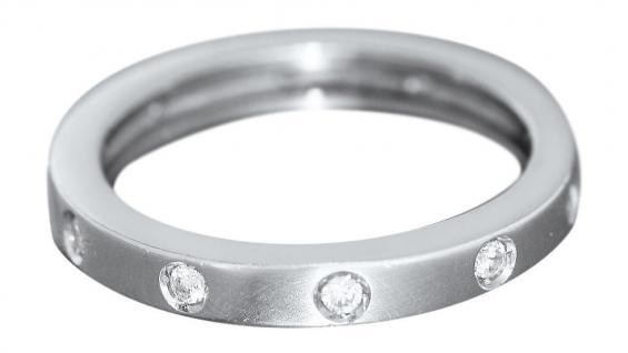 Memoryring Weißgold 585 mit Brillanten Ring Weißgold - Goldring 14 kt Damenring