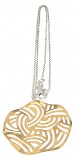 Silberkette 925 Anhänger Gold Kette Silber Collier Halskette Damen massiv