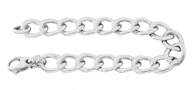 20 cm Panzerarmband Silber 925 rhodiniert Armband Armkette breites Silberarmband - Vorschau 2