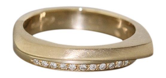 Ring Gold 585 11 Brillanten Brillantring Goldring Damenring Diamantring
