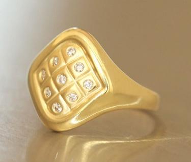 Goldring 750 mit Zirkonias exklusiver Ring Gold 18 Karat Top Design Damenring