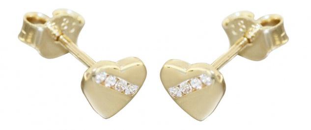 Mädchen Damen Schmetterling Ohrstecker Zirkonia Kinder Ohrringe Echt Gold 585