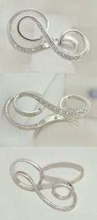 Weißgoldring 585 mit Zirkonias Damenring Gold Ring Weißgold 14 kt