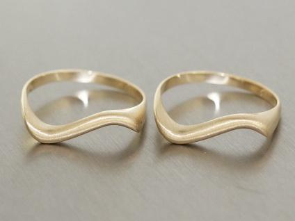 Goldwelle Ring Gold 585 zarter Goldring mit Schwung Damenring mattiert 14 Karat
