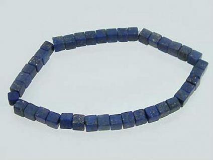 Echtes Lapisarmband - Armband aus kleinen Lapiswürfeln - dekorative Armkette