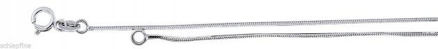 Geschliffene feine Weissgoldkette 585 - 42 cm Kette Weissgold - Schlangenkette