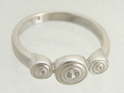 Ring Silber 925 mit Kelten Spirale Design von Lencia Silberring mit Zirkonia
