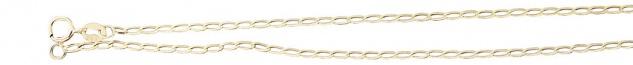 50 cm hochglänzende feine Goldkette 585 Halskette geschliffen Kette Gold massiv