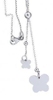 Y Kette Silber 925 Silberkette mit Schmetterling Collier Halskette Kette