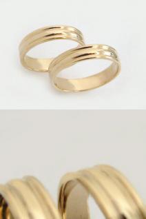 Schlichter Goldring 585 Bandring Ehering Trauring Ring Gold 14 kt