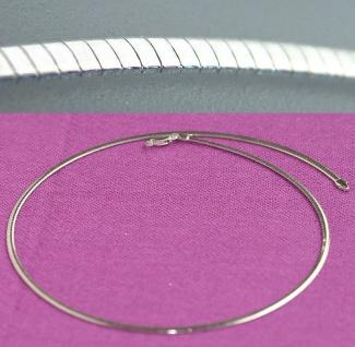 Halsreif Silber 925 Omega 45 cm 2, 6 mm massiv Collier Sterlingsilber