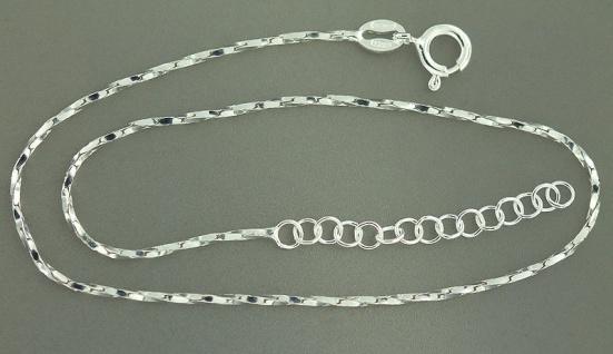 Funkelndes Fußkettchen Sterlingsilber 925 Silberkette feine Fußkette Silber