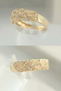 Eleganter Brillantring - Goldring 585 mit 27 Brillanten - Ring Gold - Damenring