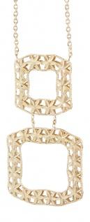 Collier mit Anhänger Gold 750 / 18 Karat - Goldkette massive Halskette Gelbgold