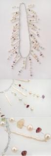 Collier Superoptik für den Abend Perlen und Edelsteine - Perlenkette - Halskette