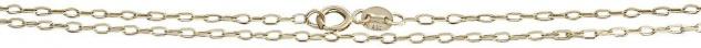 45 / 50 cm feine massive Gliederkette Gold 585 - Goldkette geschliffen Halskette