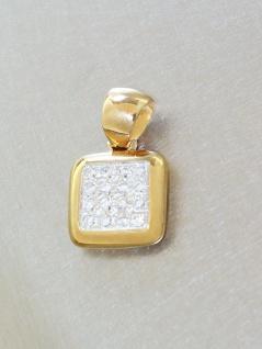 Funkelnder Anhänger in 14 kt Gold (585/000) mit 16 Zirkonias - Goldanhänger