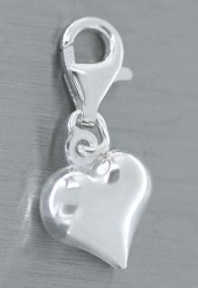 Charm echt Silber 925 er - Silberanhänger Herz - Anhänger für Bettelarmband