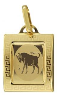 Sternzeichen Stier Gold 585 Anhänger 14 Karat Kettenanhänger Gelbgold