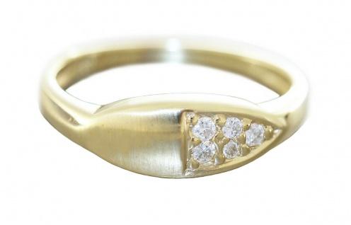 Brillantring Goldring 585 mit Brillanten 0, 12 ct. Ring Gold edles Design