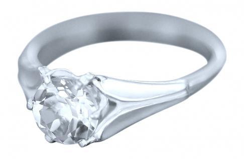 Klassischer Silberring 925 mit Zirkonia Solitär Ring Silber großer Zirkonia