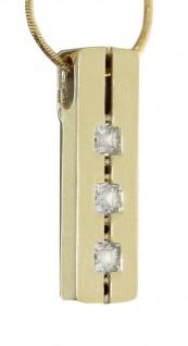 Collier Gold 585 Kette und Anhänger mit Zirkonias Schlangenkette 45 cm Halskette