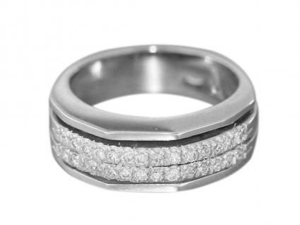 Brillantring Weißgold 750 massiv Ring 28 Brillanten 0, 38 ct. Damenring 18 Karat